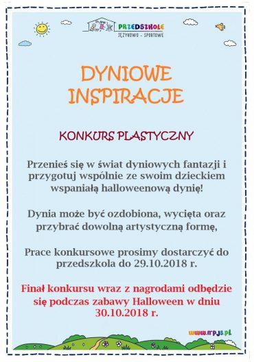 Dyniowe Inspiracje – konkurs plastyczny dla dzieci i rodziców